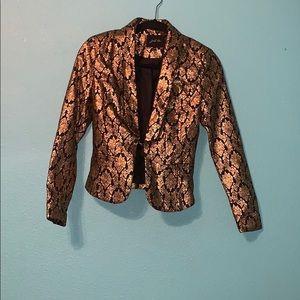 Gold and black blazer